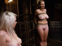 Lorelei Lee and Sara Scott in a live hardcore bondage shoot